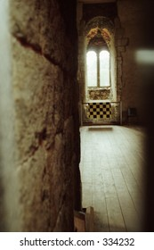 interior window of Guilford Castle