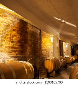 interior of a wine cellar in Mendoza, Argentina
