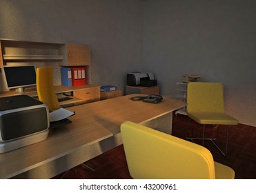 interior of a workplace