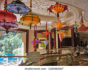 Interior at the Wynn Hotel and casino in Las Vegas. USA. Spring 2015
