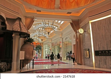 the interior of the Wynn Hotel in Las  Vegas