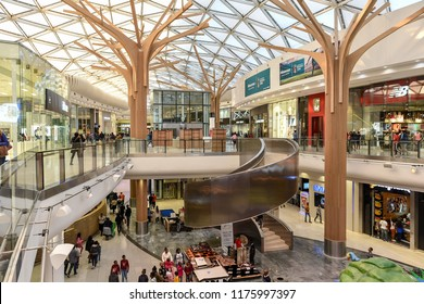 The Interiors of the Biggest Shopping of the Africa Continent, The Mall of Africa, Johannesburg, South Africa on 30th July 2018