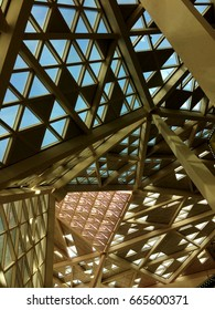 Interiors of a building at the King Abdullah Financial District, Saudi Arabia