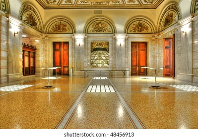 Interiors of the Chicago Cultural Center