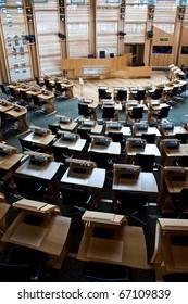 Interiors of Edinburgh Parliament, built in 2004