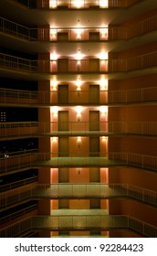 Interiors of floors in a generic multi-storey hotel
