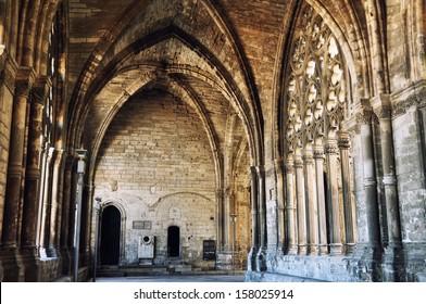 Interiors of La Seu Vella Cathedral, Lleida,Spain
