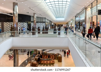 Interiors of the Mall of Africa, the Biggest Shopping Mall ever built in a single phase in the entire Africa, located in Johannesburg, South Africa on 30th July 2018