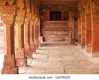 Interiors of palace in Fatehpur Sikri, India