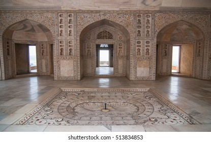 Interiors of a Palace in India.
