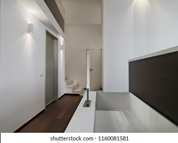 interiors shot of a modern bathroom in the foreground the bathtub with tap