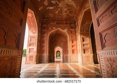 Interiors Of Taj Mahal Mosque At Agra, India