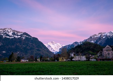 Interlaken city and Jungfrau, Switzerland