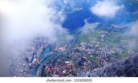 Interlaken view from Harder Kulm, Switzserland