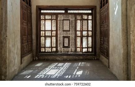 Interleaved wooden window (Mashrabiya), Medieval Cairo, Egypt