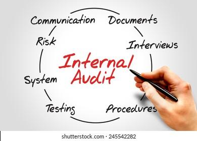Internal Audit process circle, business concept