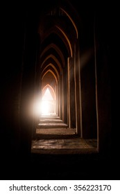 Internal corridor of a famous mosque near Bamako, Mali