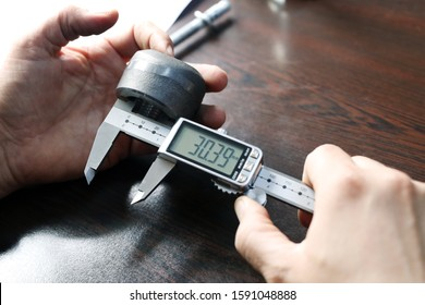 Internal diameter of weldolet  measuring with the digital vernier caliper micrometer. A micrometer, sometimes known as a micrometer screw gauge, is a device incorporating a calibrated screw.