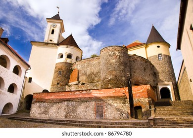 "Internal part ( castle constructed in 11 century) of an ancient castle of ""Polanok"" located in city of Mukachevo (Ukraine)."