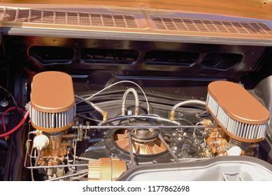 Internal rear engine of a Sedan
