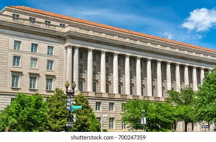 The Internal Revenue Service Building in Washington DC, USA