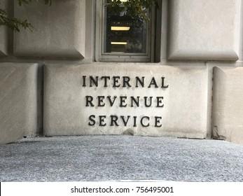 Internal Revenue Service  Stone Marker Sign