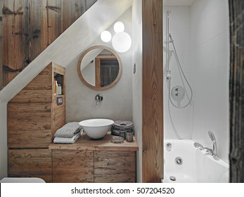 internal shots of a rustic bathroom in the foreground the counter top washbasin