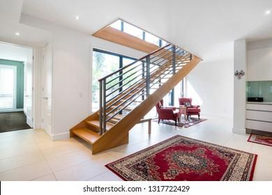 Internal stair case of a modern home