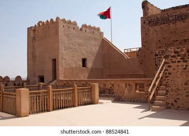 Internal view of the fortifications at Jabreen Castle in the Sultanate of Oman