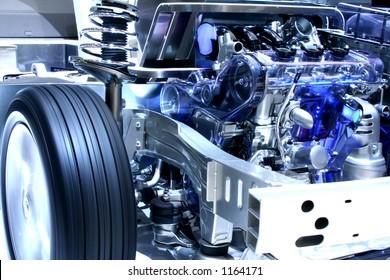 Internal working of a hybrid car