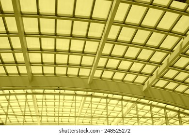 International Airport fornix truss, closeup of pictures