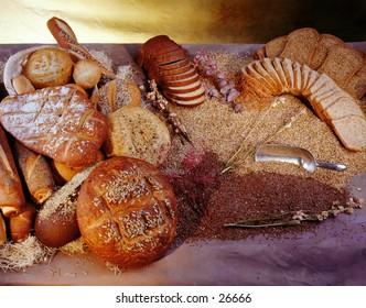 International assortment of breads