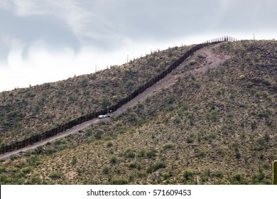 The international border. The border between the US states and Mexico