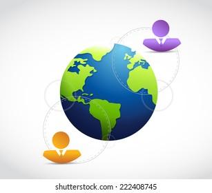 international business communication illustration design over a white background