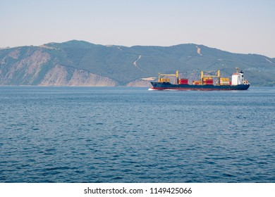 international cargo ship on the sea