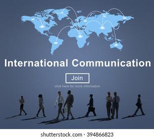 International Communication Worldwide Sharing Concept