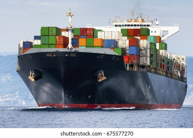 International Container Cargo ship, Freight Transportation fit shipping concept