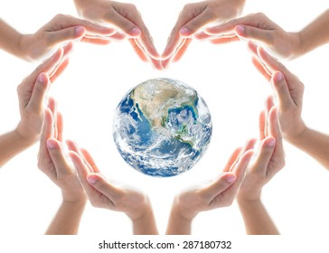 International cooperative, friendship and natural environment protection concept goal. Elements of this image furnished by NASA