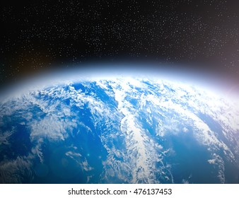 International Day for the Preservation of the Ozone Layer concept. Elements of this image furnished by NASA.