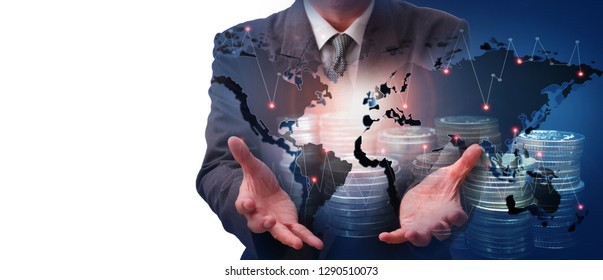 international financial consulting  banking concept