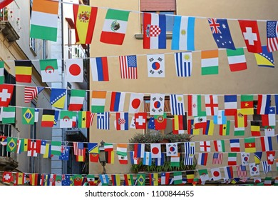 International Flags Festive Over Street Decor