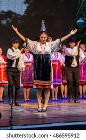 International folk dance festival (Delikapu Folk Dance Festival) ,city Pecs of Hungary, 16.august 2016