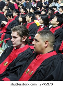 International graduates at an Asian university during a graduation ceremony - EDITORIAL ONLY.