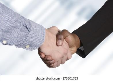 International Handshake, Studio Shot