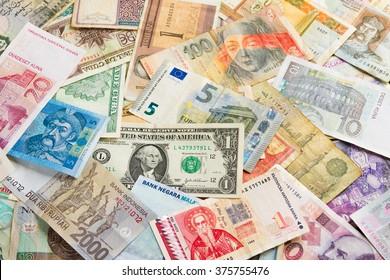 International money background