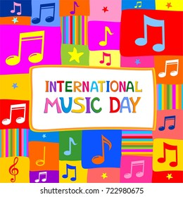 International Music Day. Music notes.  Illustration