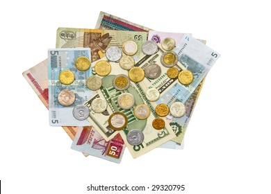 International notes and coins