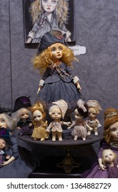 """The XІХ International Puppet Exhibition """"Fashion Doll"""", Ukraine, Kiev, from April 5 to April 7, 2019. Hand crafted dolls."""