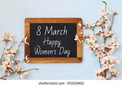 International women day concept. Top view image.