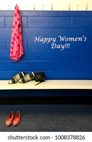 International women's day for sporty women. March 8